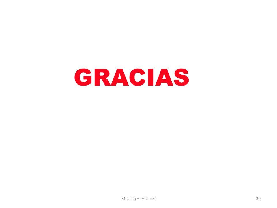 GRACIAS Ricardo A. Alvarez30