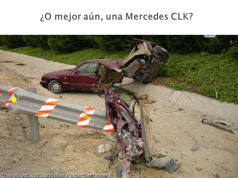 ¿O mejor aún, una Mercedes CLK?