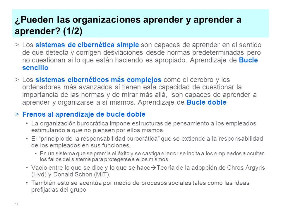 17 ¿Pueden las organizaciones aprender y aprender a aprender.