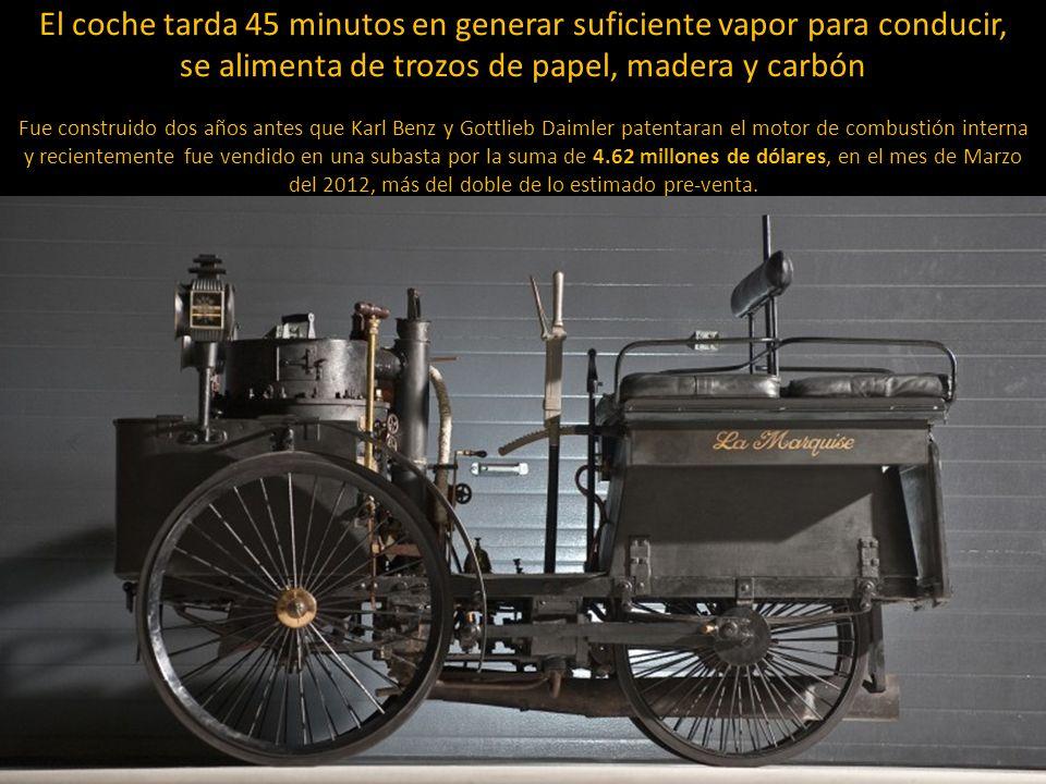 El auto mas viejo de la historia (1884 De Dion Bouton Et Trapardoux Dos-A-Dos Runabout de vapor)