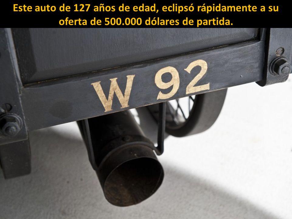 El coche más antiguo del mundo en funcionamiento, un 1884 De Dion Bouton Et Trapardoux Dos-A-Dos Runabout de vapor, hizo historia al lograr $ 4,62 mil