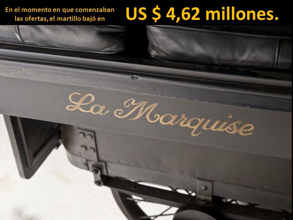 En el momento en que comenzaban las ofertas, el martillo bajó en US $ 4,62 millones.