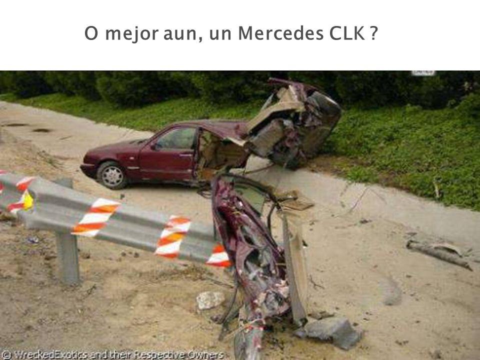 O mejor aun, un Mercedes CLK ?