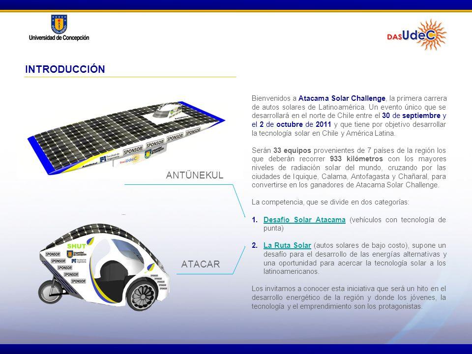 Bienvenidos a Atacama Solar Challenge, la primera carrera de autos solares de Latinoamérica. Un evento único que se desarrollará en el norte de Chile