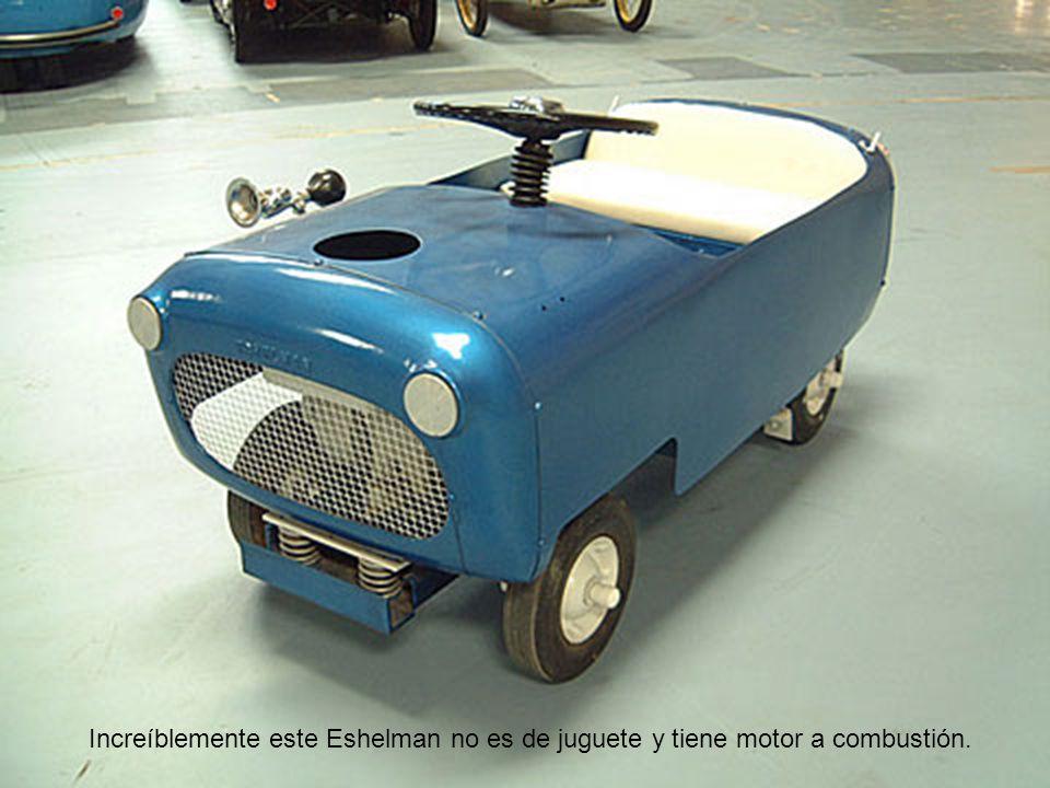 Increíblemente este Eshelman no es de juguete y tiene motor a combustión.
