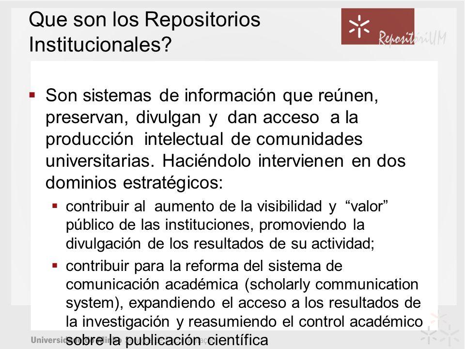 Que son los Repositorios Institucionales.