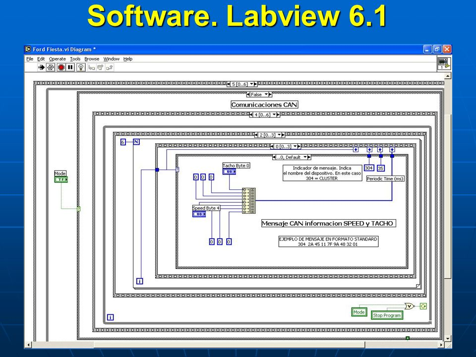 Software. Labview 6.1