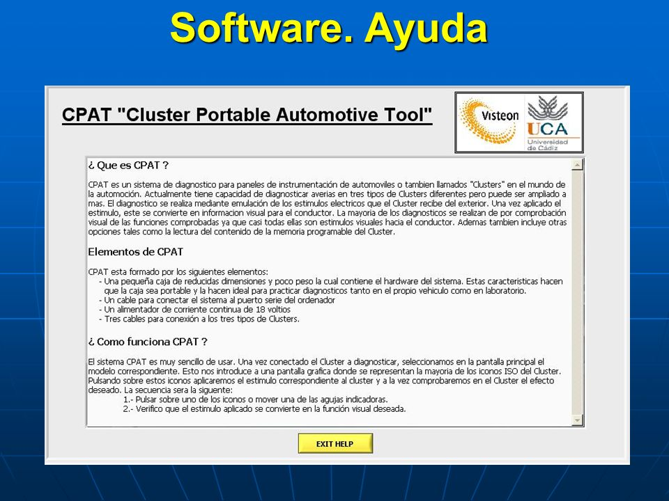 Software. Ayuda