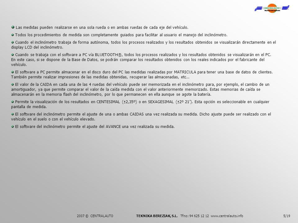 4.- COMO POSICIONAR EL INCLINOMETRO 6/192007 © CENTRALAUTO TEKNIKA BEREZIAK, S.L.
