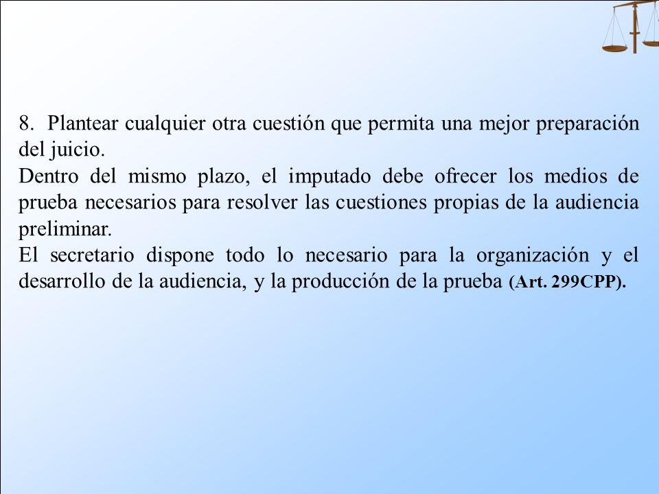 Dentro de los cinco días de notificado, el imputado puede: 1. Objetar el requerimiento que haya formulado el ministerio público o el querellante, por