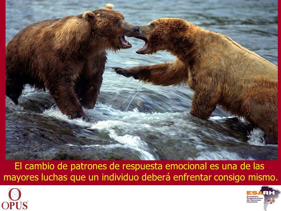 El cambio de patrones de respuesta emocional es una de las mayores luchas que un individuo deberá enfrentar consigo mismo.