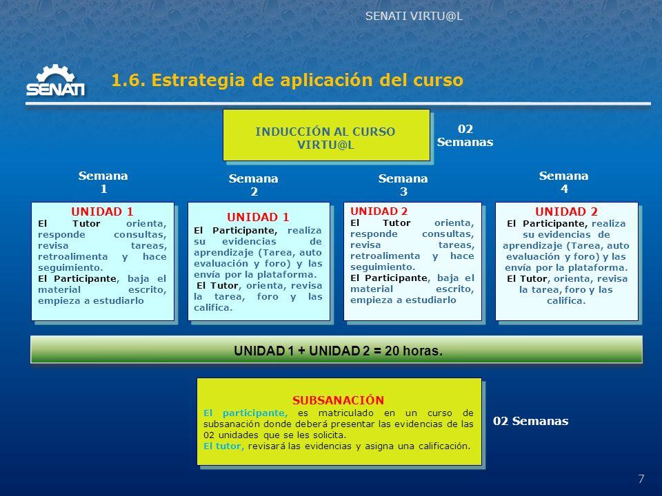 3º. Seleccionar tickets de pago. 4º. Ingresar a examen aplazados (subsanación). SENATI VRTU@L 18