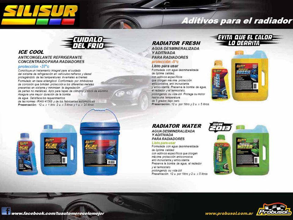 Aditivos para Invierno e Inflasella neumáticos www.facebook.com/tuautomerecelomejorwww.probusol.com.ar ARRANCA MOTORES en aerosol Para motores diesel y nafteros.