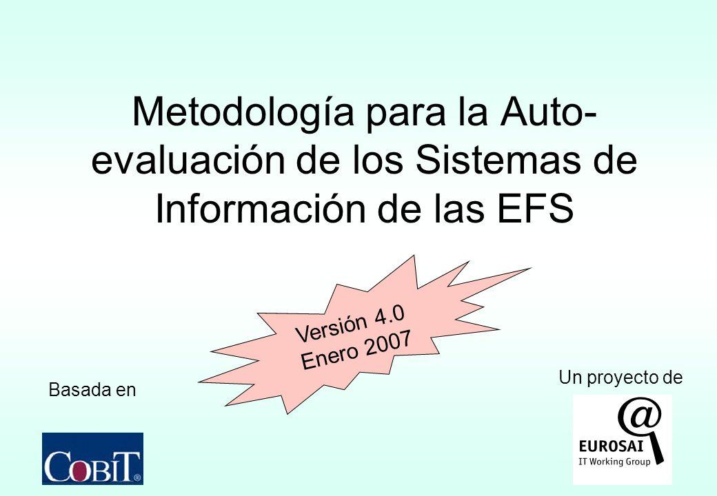 EUROSAI IT Working GroupMetodología ITSA versión 4.033 Fase 3 Conclusión Preparación del plan de acciones futuras Evaluación de la metodología propuesta