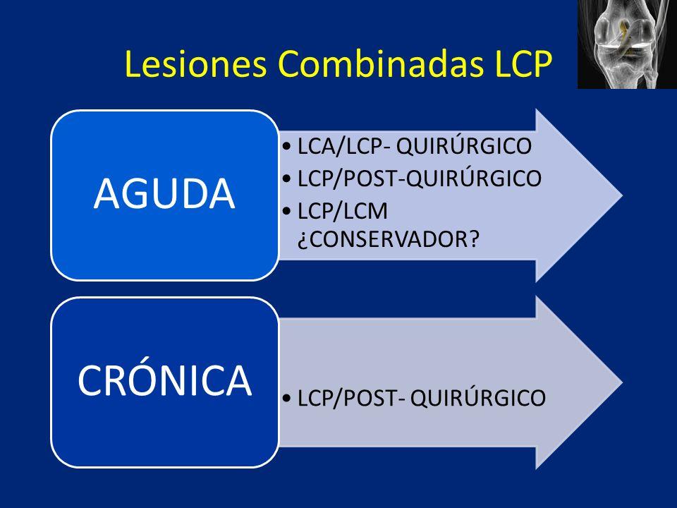 Lesiones Combinadas LCP LCA/LCP- QUIRÚRGICO LCP/POST-QUIRÚRGICO LCP/LCM ¿CONSERVADOR.