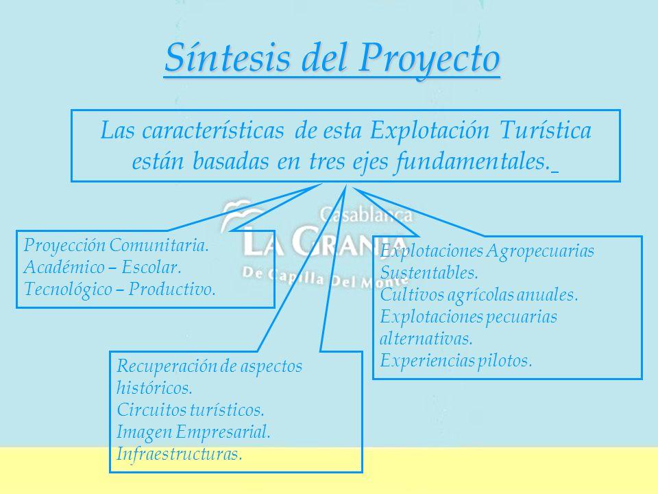 Síntesis del Proyecto Proyección Comunitaria.Académico – Escolar.