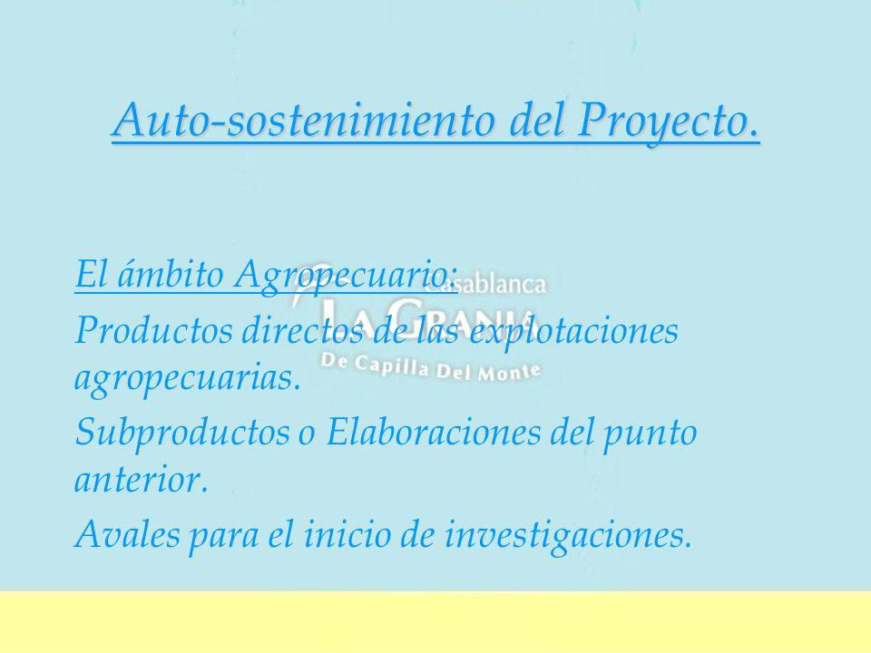 Auto-sostenimiento del Proyecto.