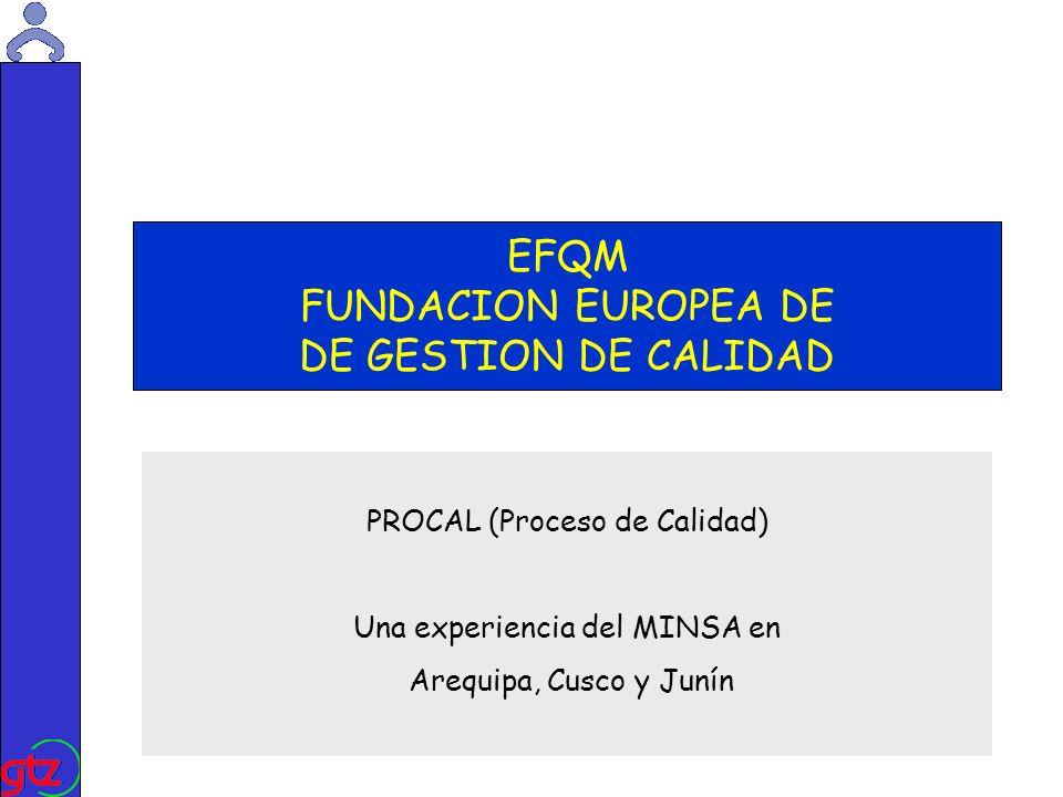 Martin Kade EFQM FUNDACION EUROPEA DE DE GESTION DE CALIDAD PROCAL (Proceso de Calidad) Una experiencia del MINSA en Arequipa, Cusco y Junín