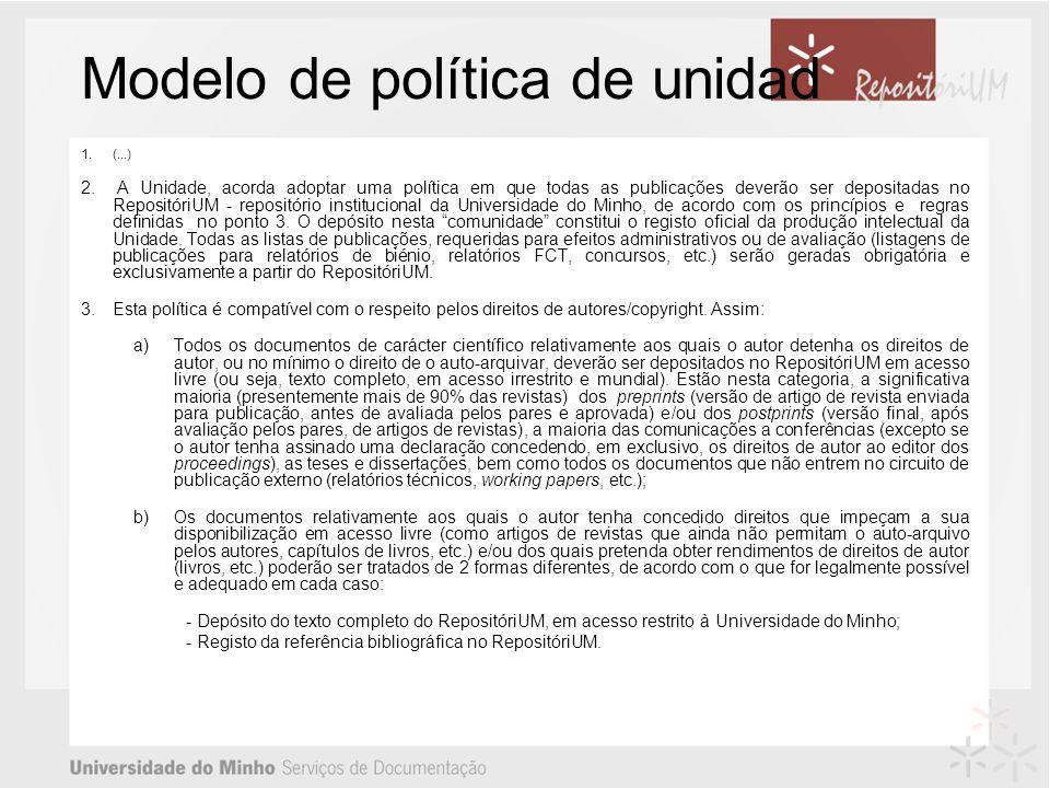 Modelo de política de unidad 1.(...) 2.