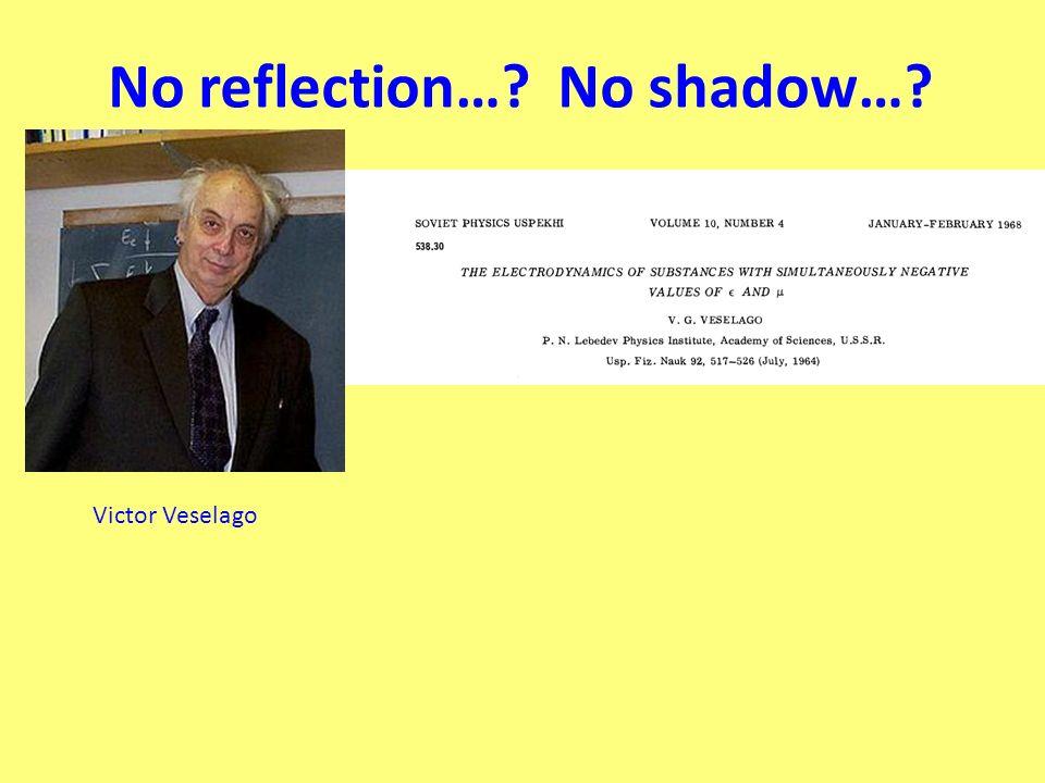 No reflection… No shadow… Victor Veselago
