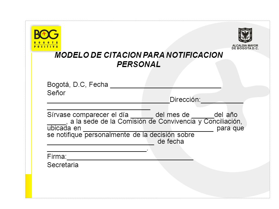Bogotá, D.C, Fecha _____________________________ Señor ________________________________Dirección:___________ ___________________________ Sírvase compa