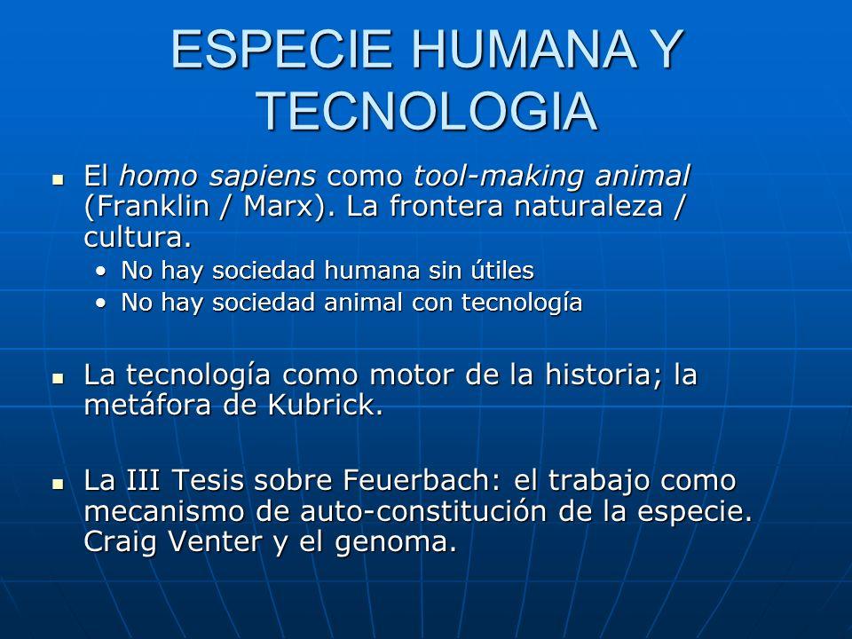 HOMBRE NATURALEZA TRABAJO Instrumento Auto-constitución de la especie humana: el hombre producto del medio, modifica el medio