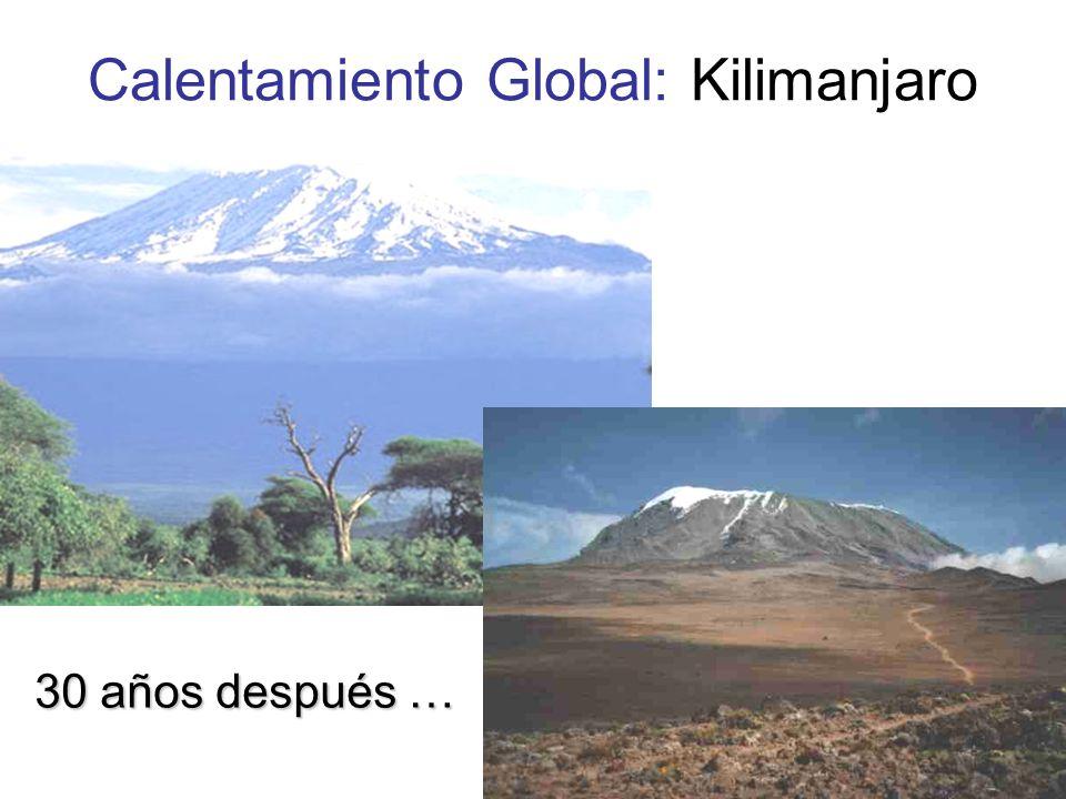 Calentamiento Global: Kilimanjaro 30 años después …