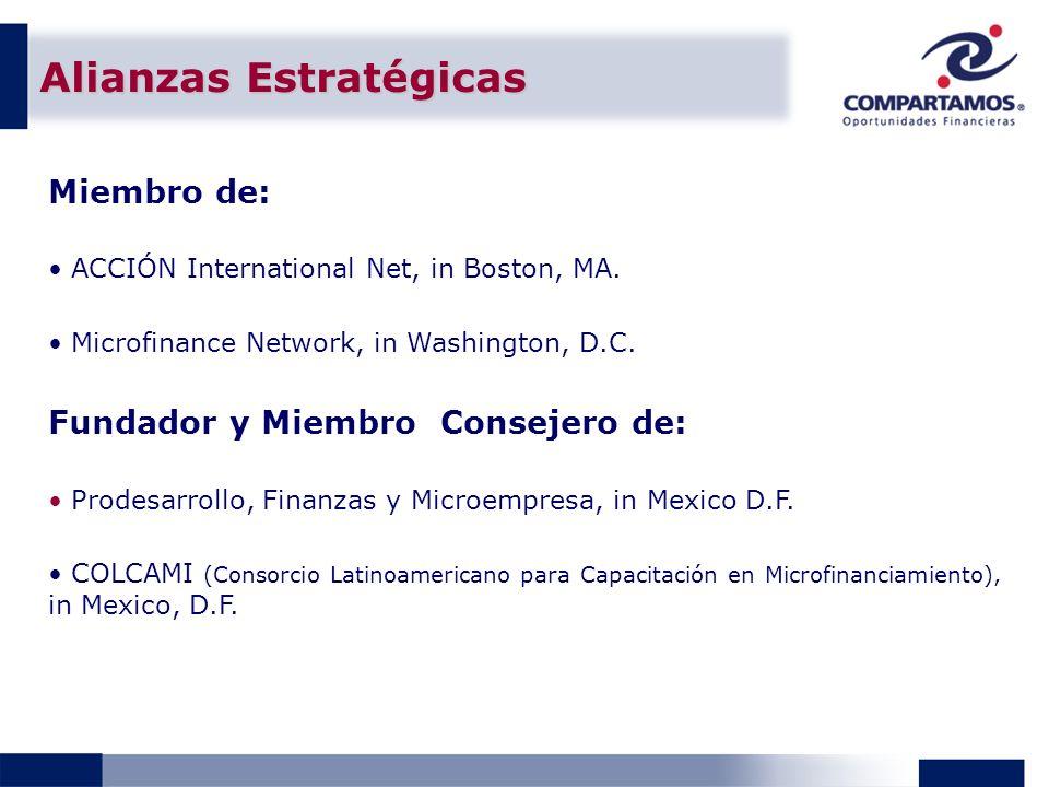 Alianzas Estratégicas Miembro de: ACCIÓN International Net, in Boston, MA.