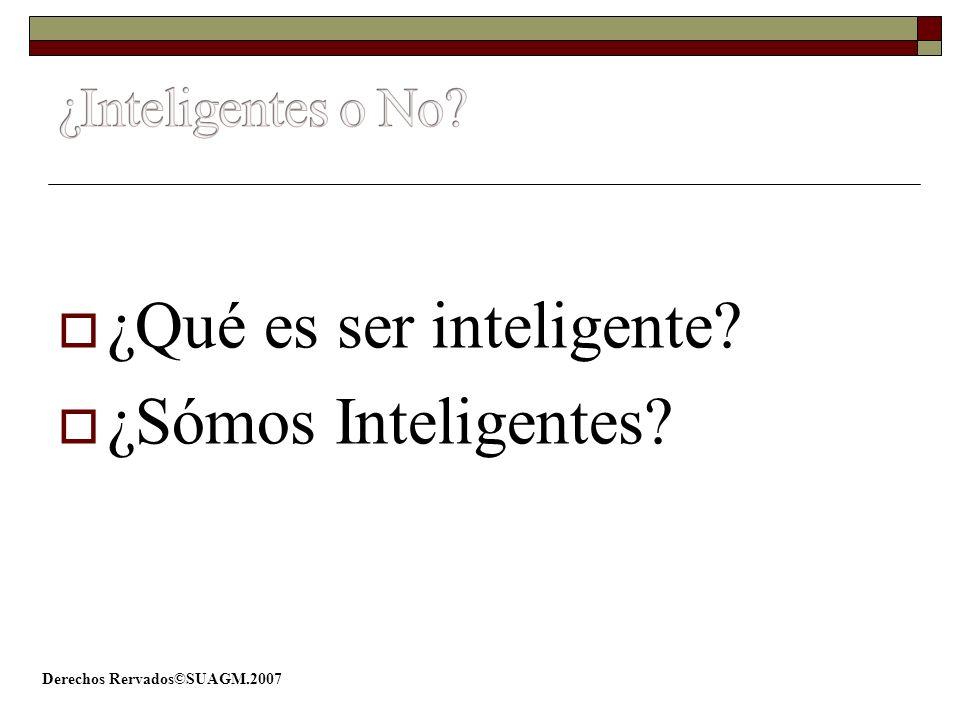 ¿Qué es ser inteligente? ¿Sómos Inteligentes?