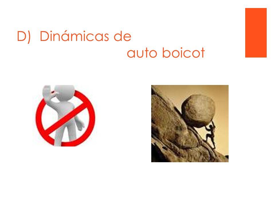 D) Dinámicas de auto boicot