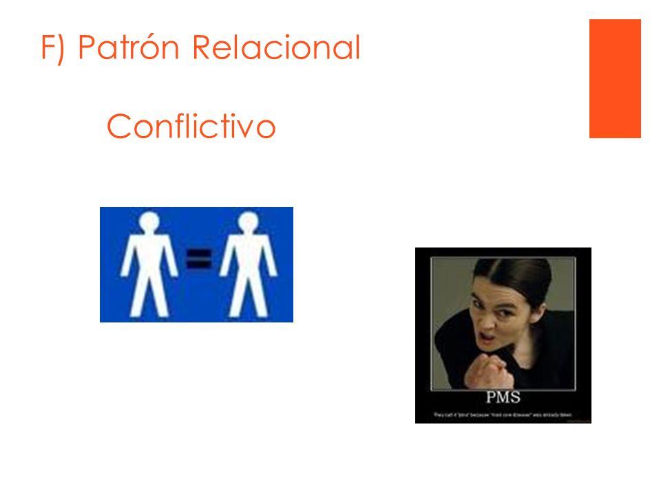F) Patrón Relacional Conflictivo