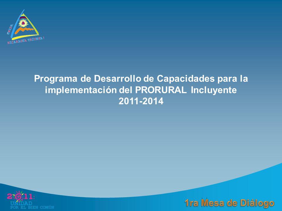 Programa de Desarrollo de Capacidades para la implementación del PRORURAL Incluyente 2011-2014