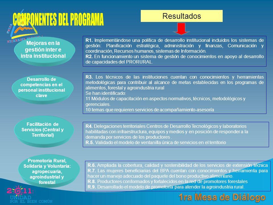 Mejoras en la gestión inter e intra institucional R1.