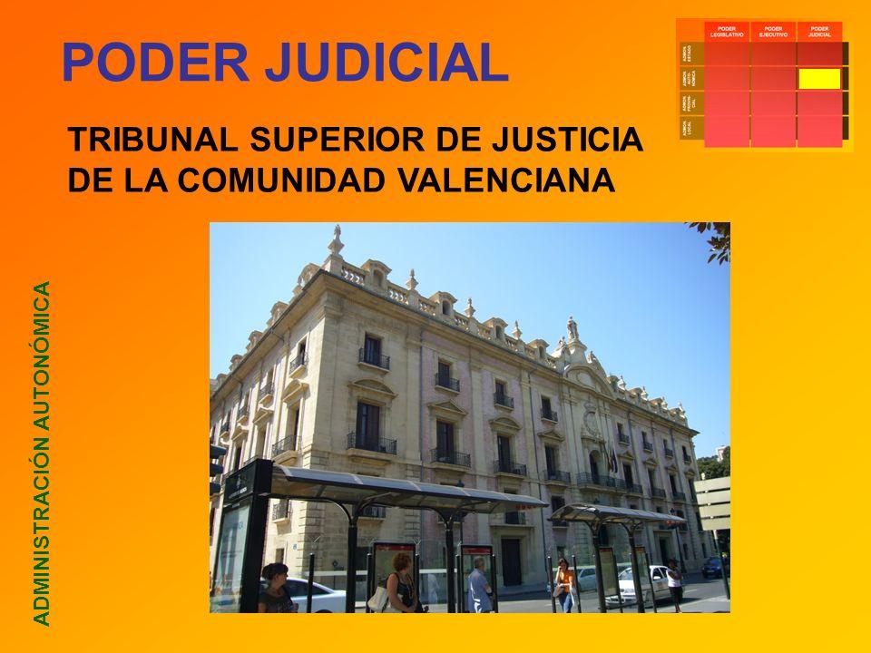 PODER JUDICIAL ADMINISTRACIÓN AUTONÓMICA TRIBUNAL SUPERIOR DE JUSTICIA DE LA COMUNIDAD VALENCIANA