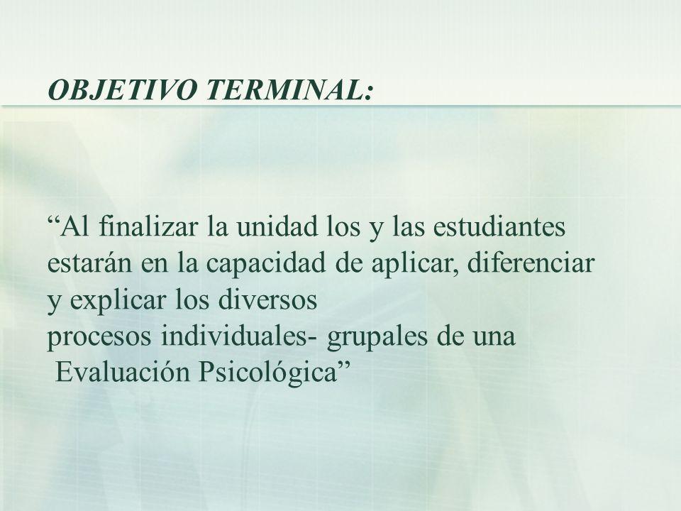 Concepto de evaluación psicológica Weiner (2003) ha propuesto que la evaluación psicológica comprende una variedad de procedimientos que son utilizados de distintas formas para lograr propósitos diversos.