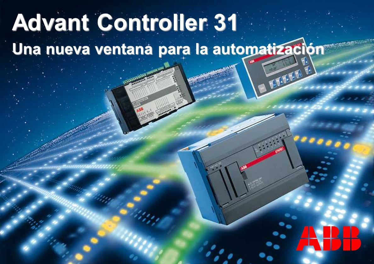 ACS 600 sales overheads slide 11 TERMOPROCESOS E INSTRUMENTACION SA DE CV Advant Controller 31 Una nueva ventana para la automatización