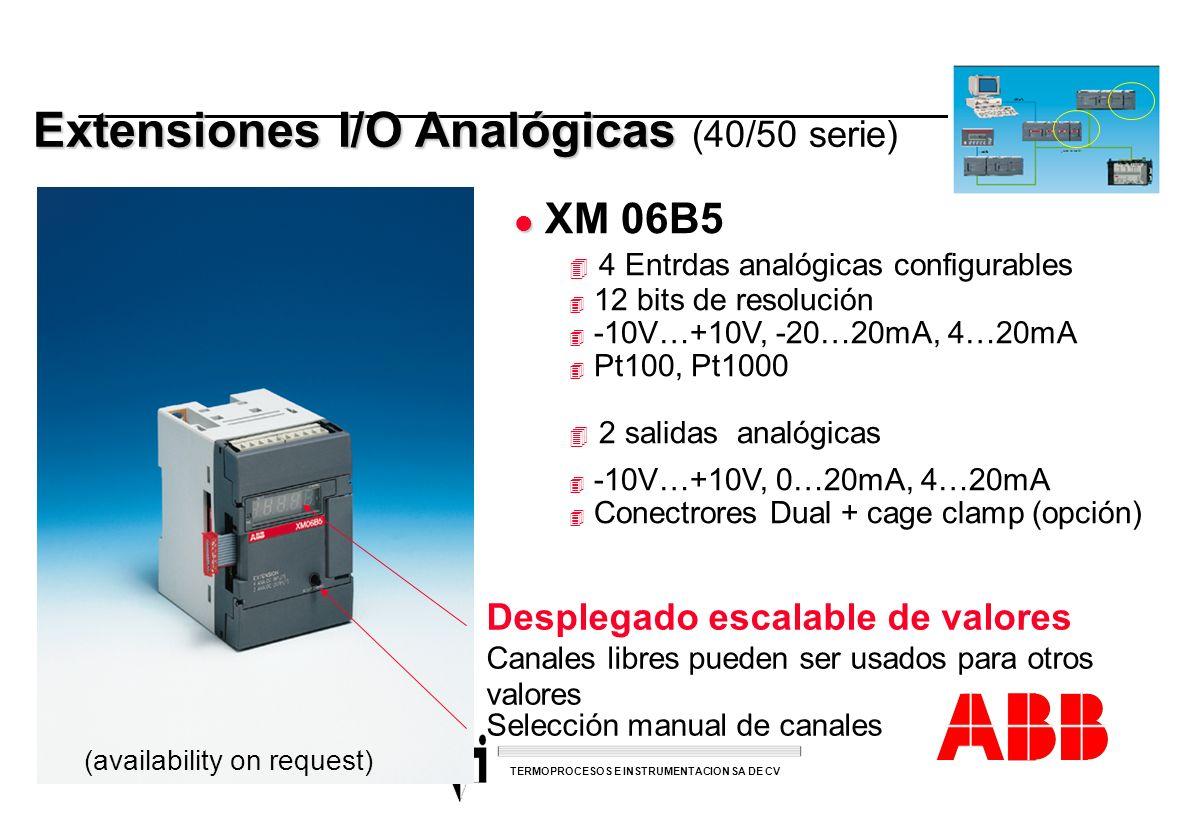 ACS 600 sales overheads slide 37 TERMOPROCESOS E INSTRUMENTACION SA DE CV Extensiones I/O Analógicas Extensiones I/O Analógicas (40/50 serie) l l XM 0