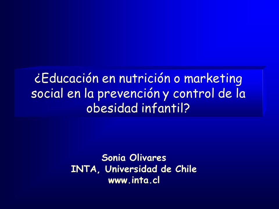 ¿Educación en nutrición o marketing social en la prevención y control de la obesidad infantil.