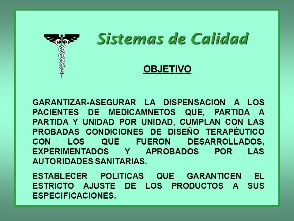 Sistemas de Calidad VALIDACION - CALIFICACION A) DEL LABORATORIO DE CONTROL DE CALIDAD 1) EQUIPO DE CALIFICACION 2) DE EQUIPAMIENTO 3) DE METODOLOGIA ANALITICA 4) DE PERSONAL 5) REACTIVOS 6) STANDARDS 7) DOCUMENTOS