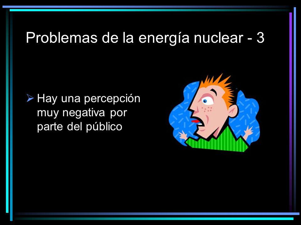 Problemas de la energía nuclear - 3 Hay una percepción muy negativa por parte del público