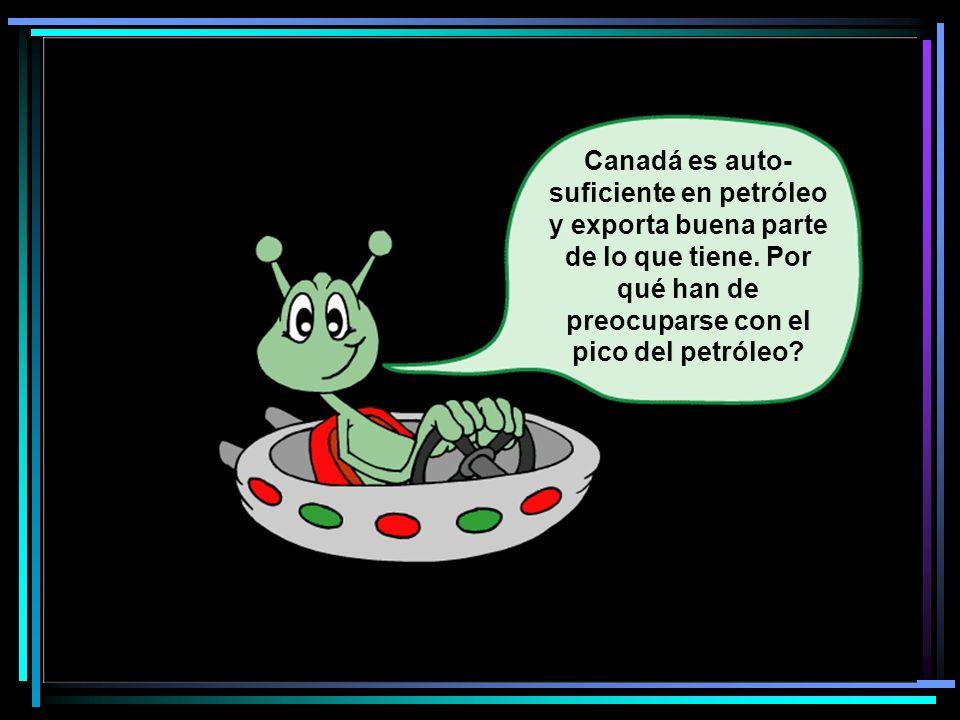 Canadá es auto- suficiente en petróleo y exporta buena parte de lo que tiene.