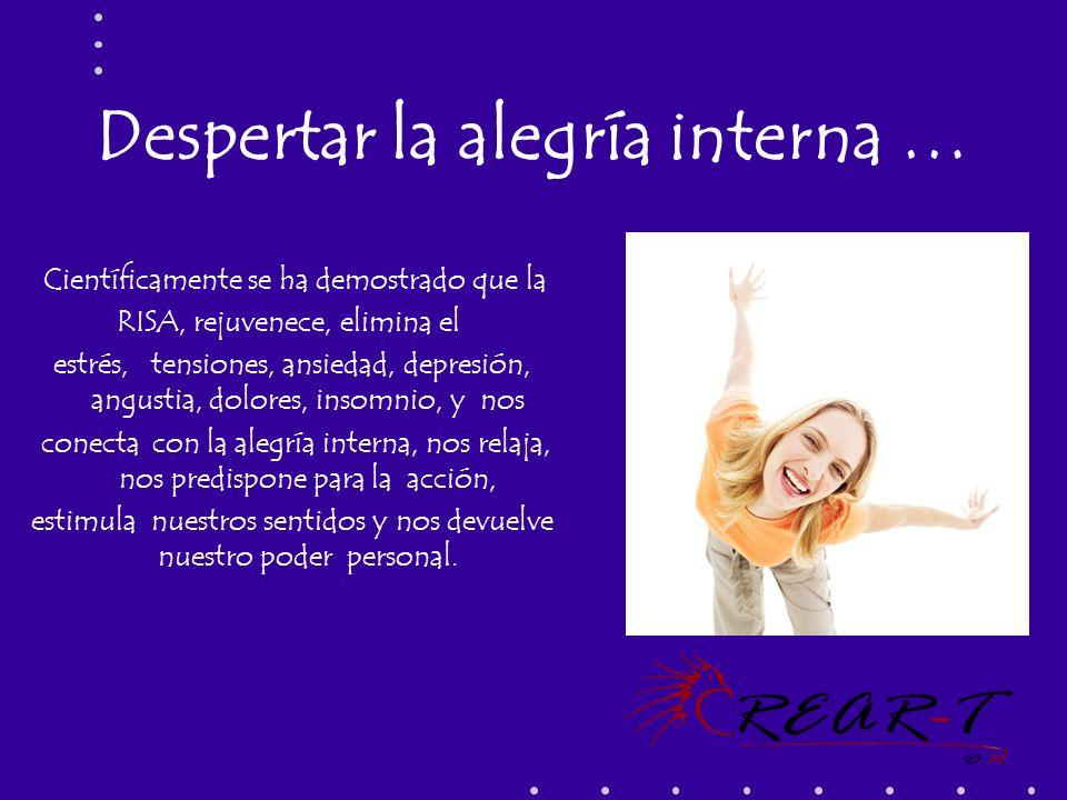 Despertar la alegría interna … Científicamente se ha demostrado que la RISA, rejuvenece, elimina el estrés, tensiones, ansiedad, depresión, angustia,