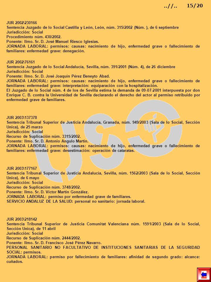JUR 2002\230166 Sentencia Juzgado de lo Social Castilla y León, León, núm. 315/2002 (Núm. ), de 6 septiembre Jurisdicción: Social Procedimiento núm. 4