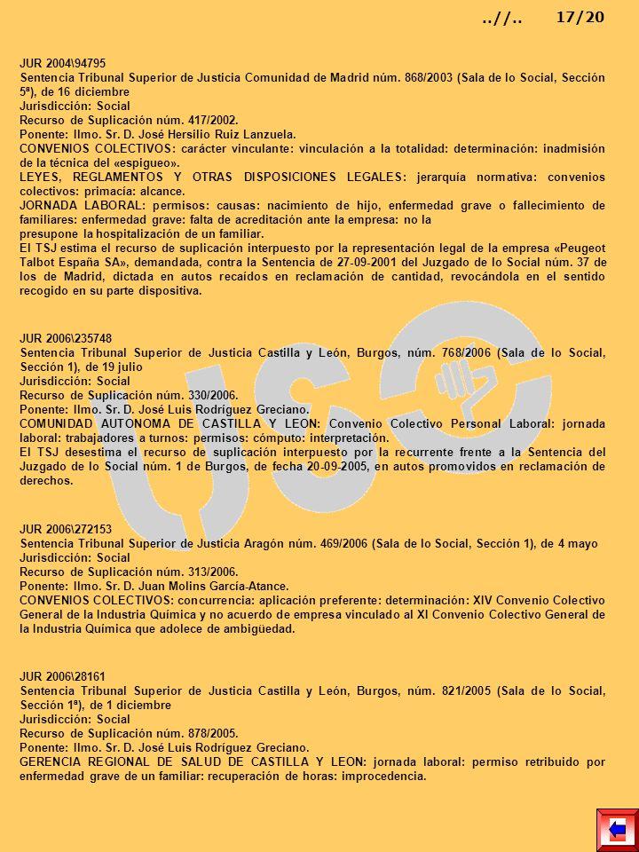 JUR 2004\94795 Sentencia Tribunal Superior de Justicia Comunidad de Madrid núm. 868/2003 (Sala de lo Social, Sección 5ª), de 16 diciembre Jurisdicción
