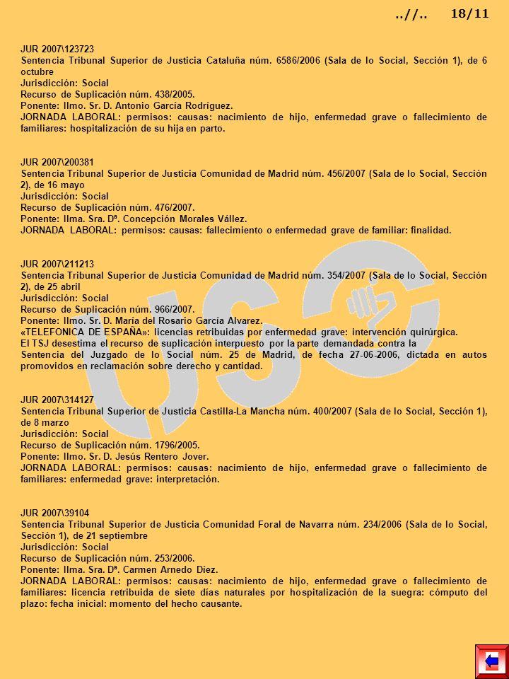 JUR 2007\123723 Sentencia Tribunal Superior de Justicia Cataluña núm. 6586/2006 (Sala de lo Social, Sección 1), de 6 octubre Jurisdicción: Social Recu