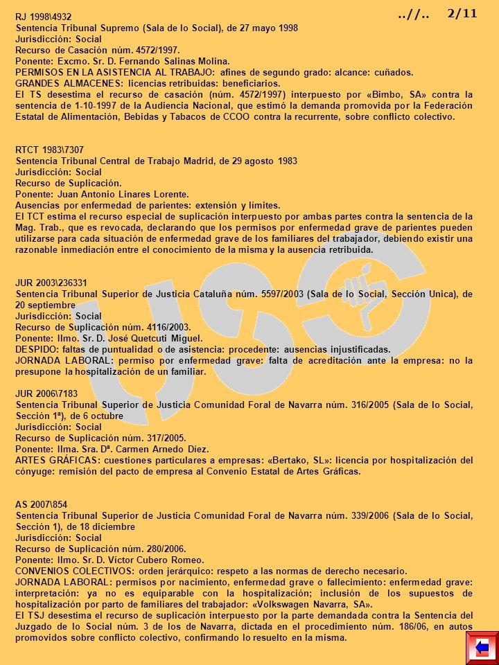 RJ 1998\4932 Sentencia Tribunal Supremo (Sala de lo Social), de 27 mayo 1998 Jurisdicción: Social Recurso de Casación núm. 4572/1997. Ponente: Excmo.