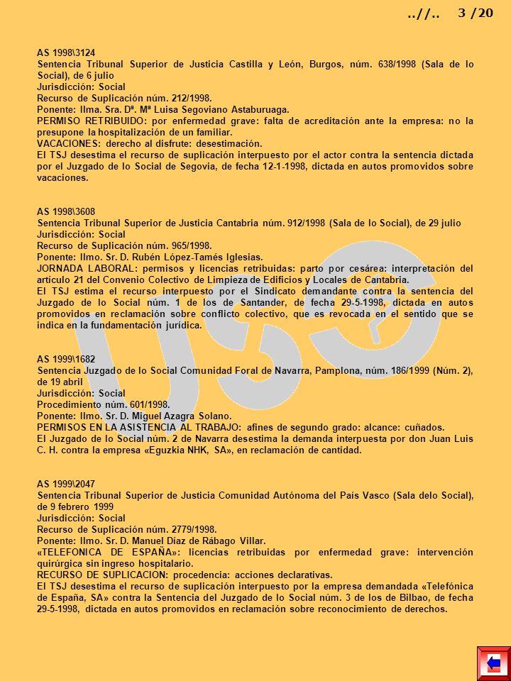 AS 1998\3124 Sentencia Tribunal Superior de Justicia Castilla y León, Burgos, núm. 638/1998 (Sala de lo Social), de 6 julio Jurisdicción: Social Recur
