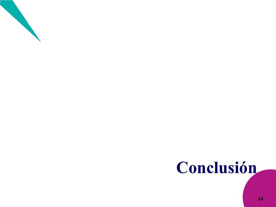 64 Conclusión