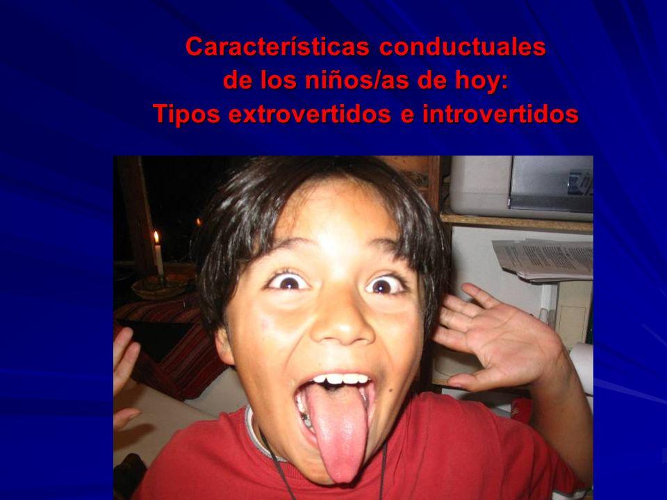 Características conductuales de los niños/as de hoy: Tipos extrovertidos e introvertidos