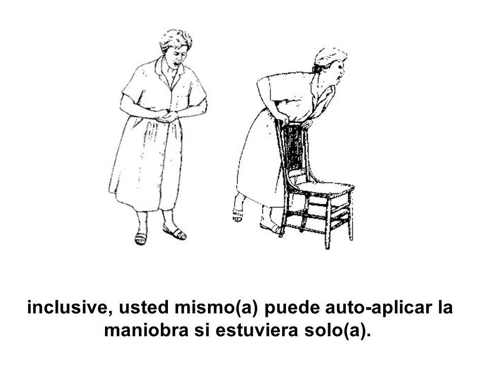 inclusive, usted mismo(a) puede auto-aplicar la maniobra si estuviera solo(a).